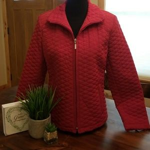 GALLERY RED QUILTED COAT